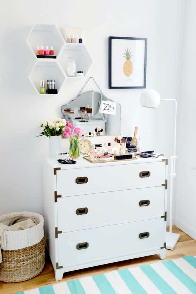 Diy dresser to makeup vanity transformation