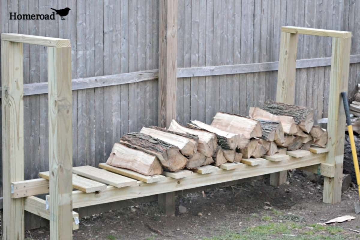 Diy log holder using 2x4s