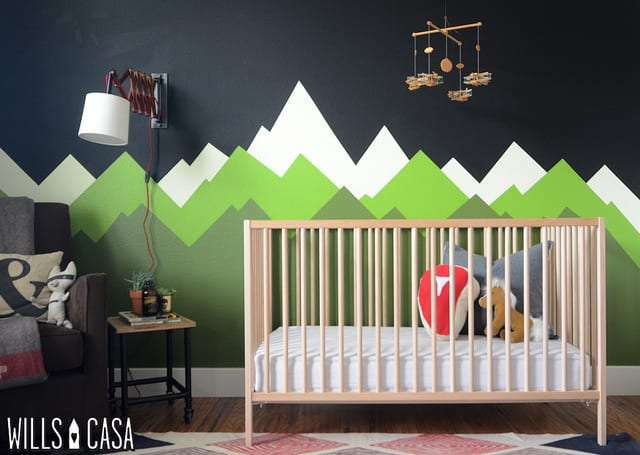 Diy mountain wall mural