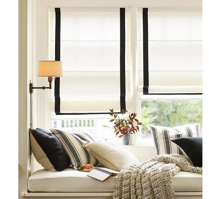 Diy painted roller shades