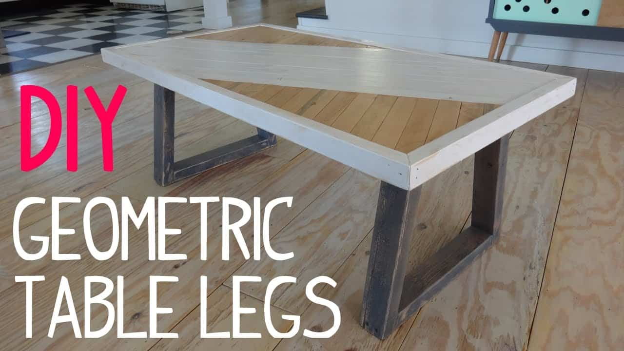 Diy painted table with geometric legs