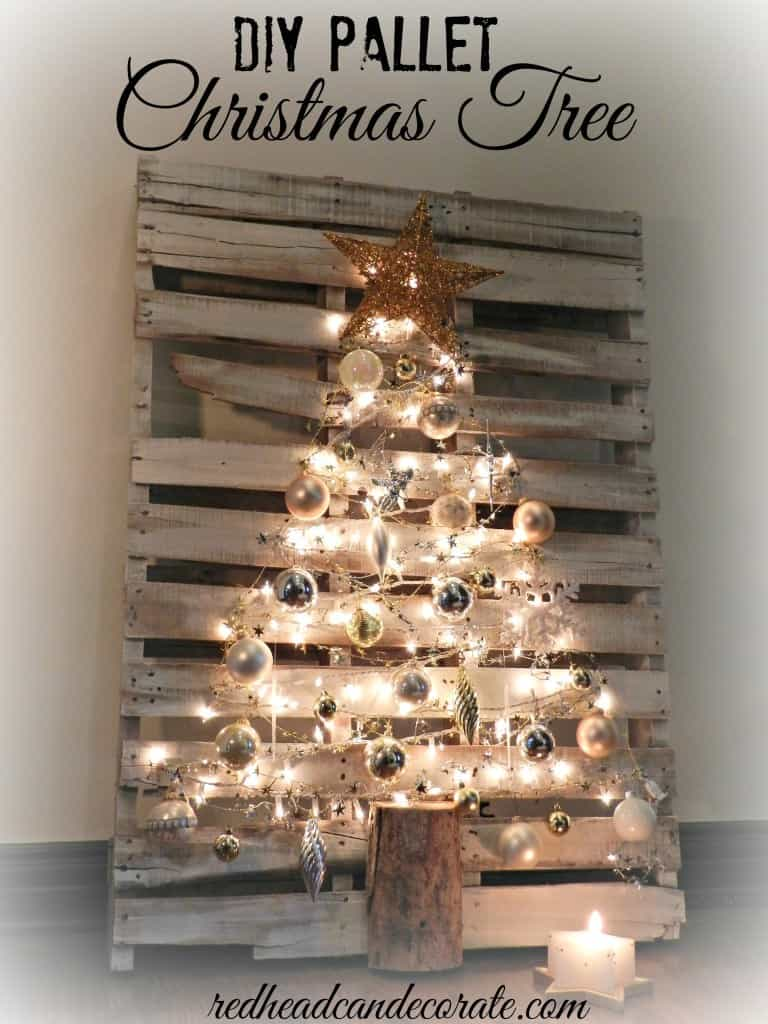 Diy pallet rustic christmas tree