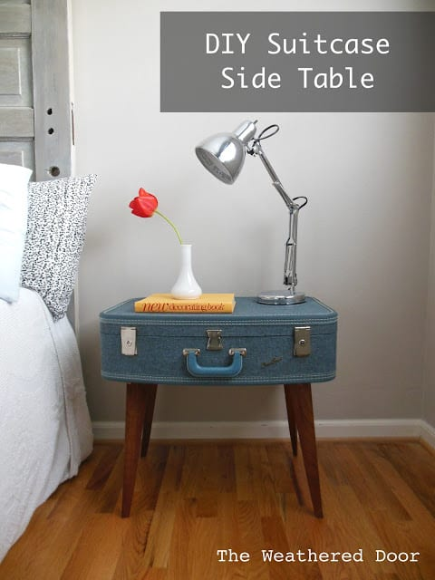 Diy suitcase night table