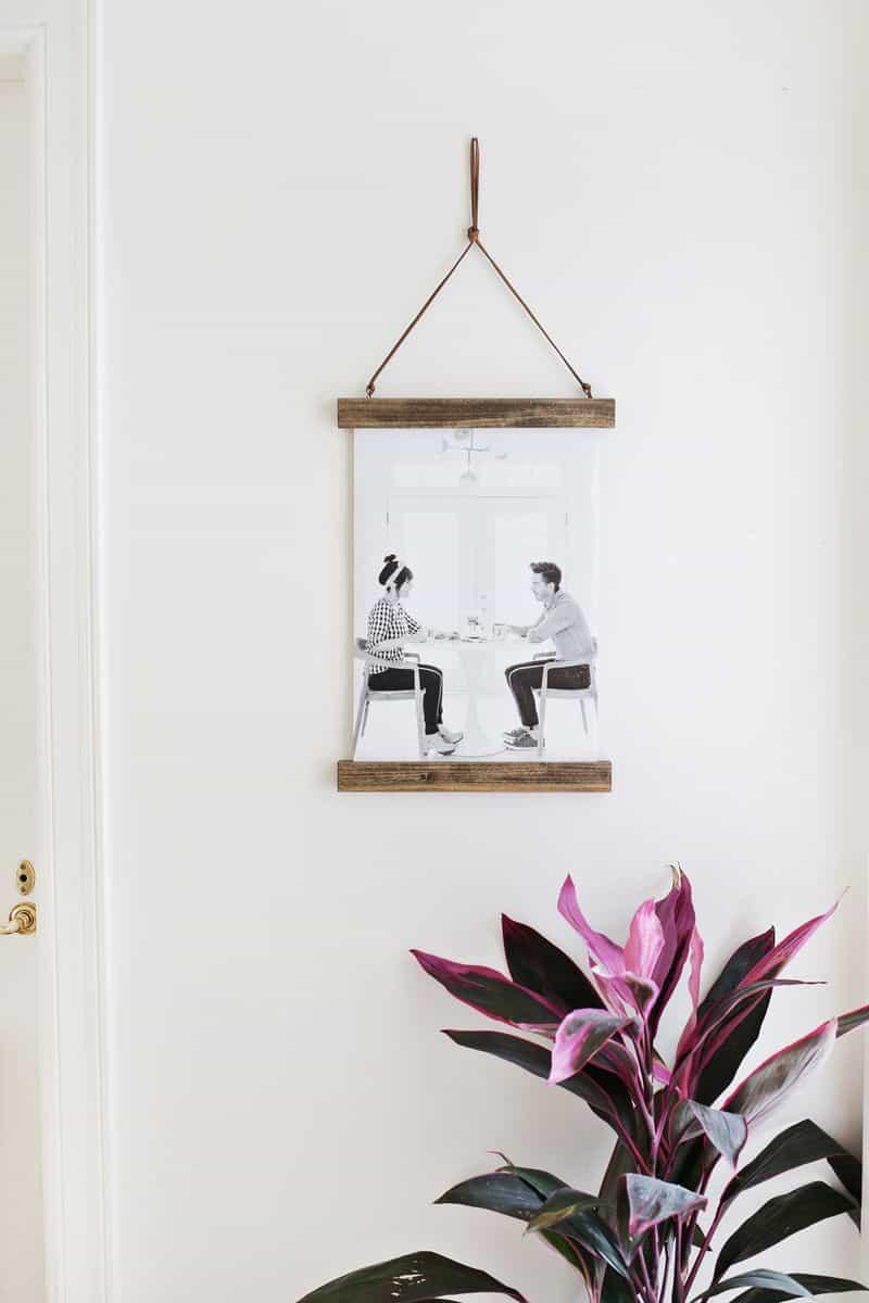 Diy wooden poster hanger