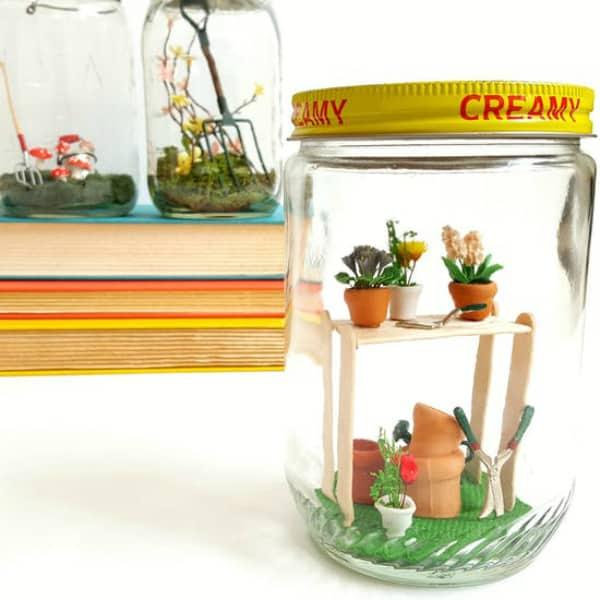 Diy spring jars gardens 2