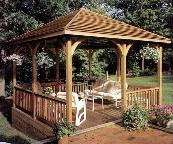 Deck levelled gazebo