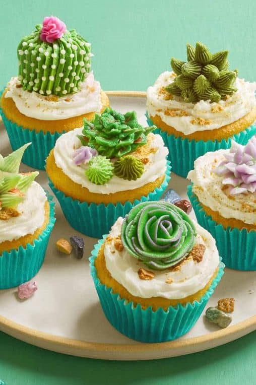 Desert bloom cupcakes