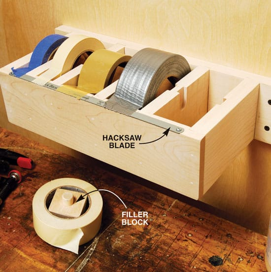 Easy diy jumbo tape dispenser