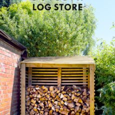 Fully diy log stoage shed