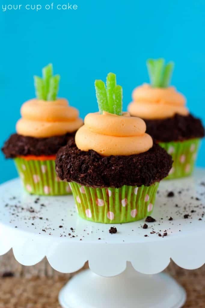 Garden carrot cupcakes