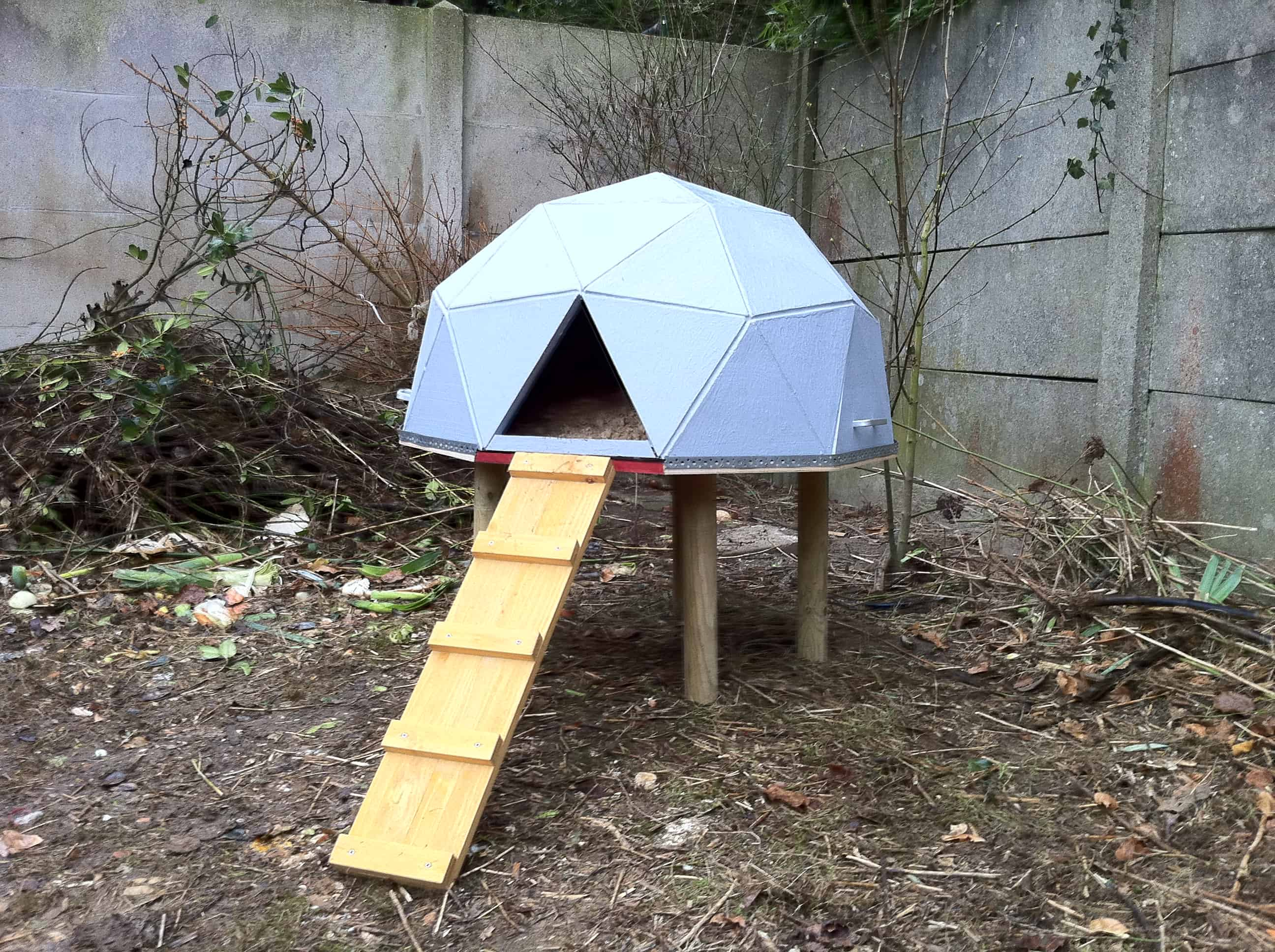 Gemoetric dome chicken house