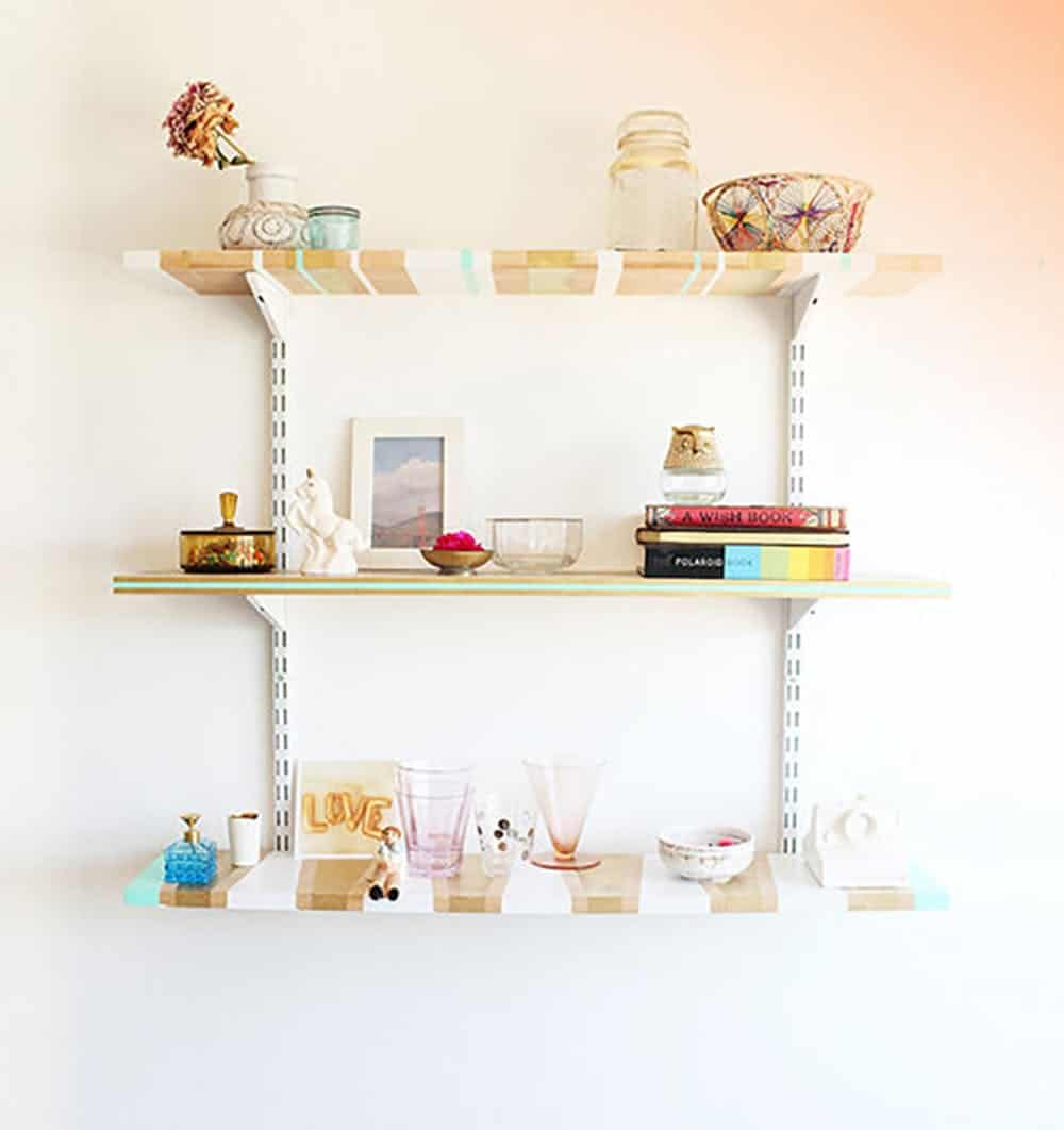 Hand painted stacked shelves
