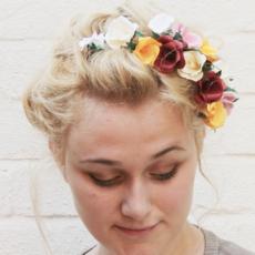 Handmade paper hair flowers