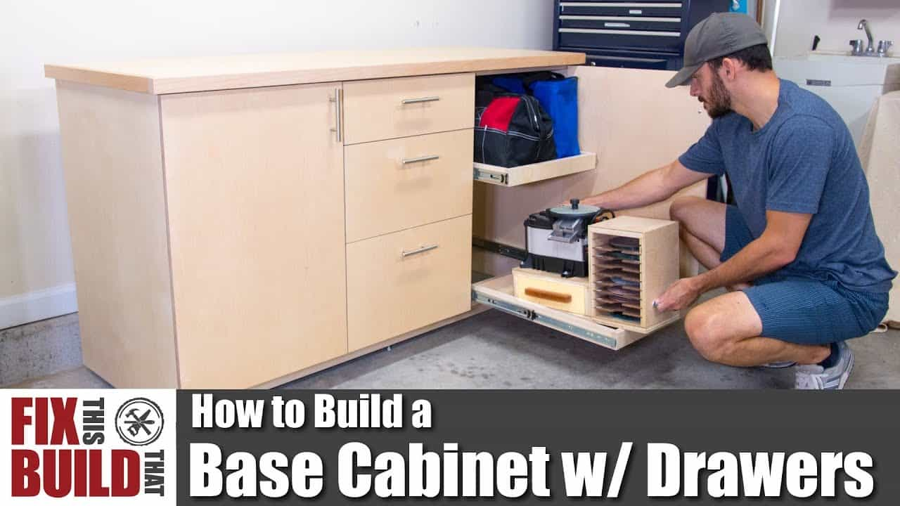 How to build a base cabinet full of tool drawers