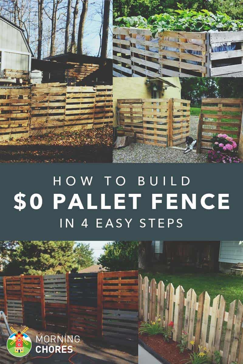 How to build a simple pallet fence for $0