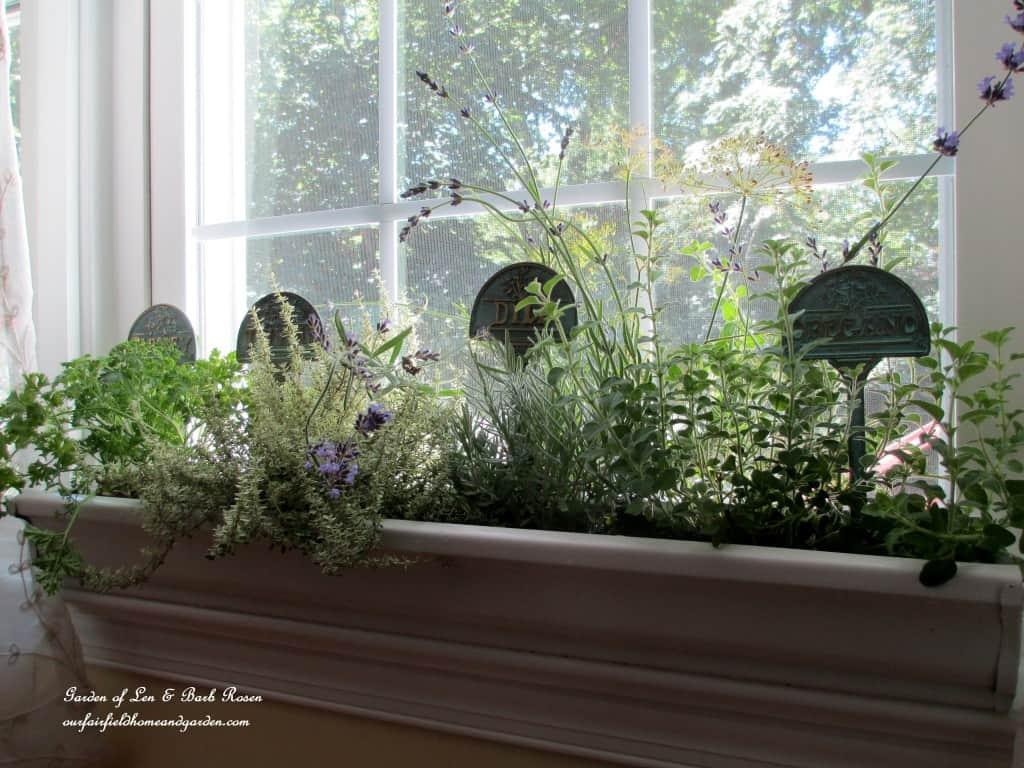Indoor window sill box from a rain gutter