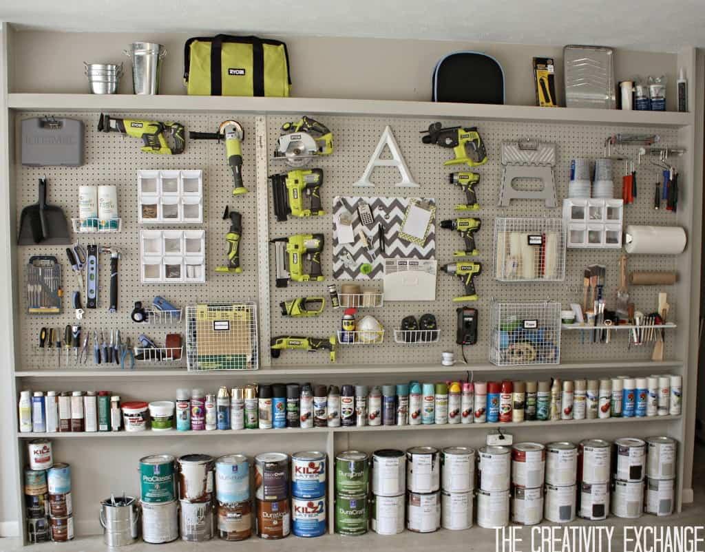 Jumbo pegboard tool wall