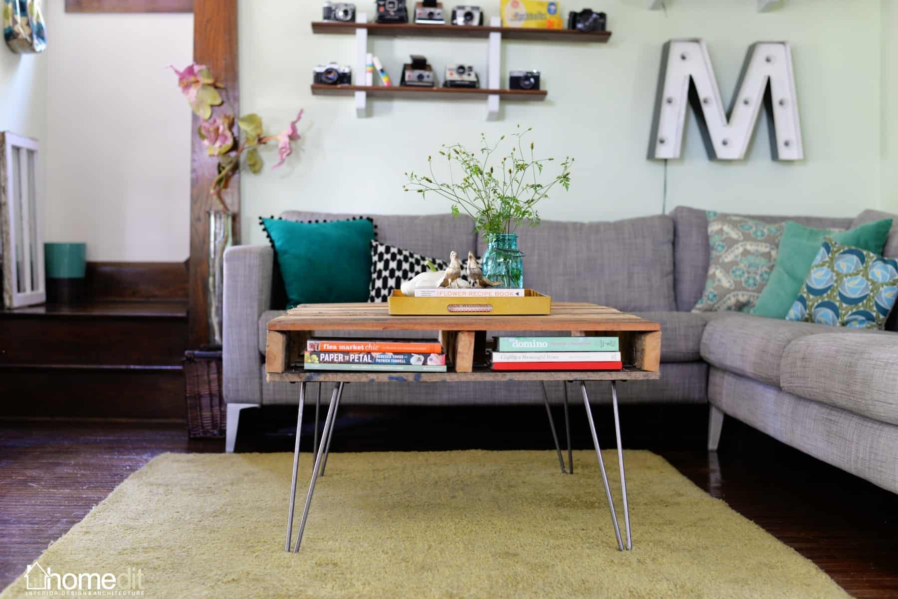 Larger hairpin legs and pallet coffee table