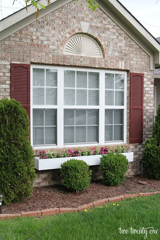 Larger, longer window box