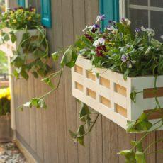 Lattice window box