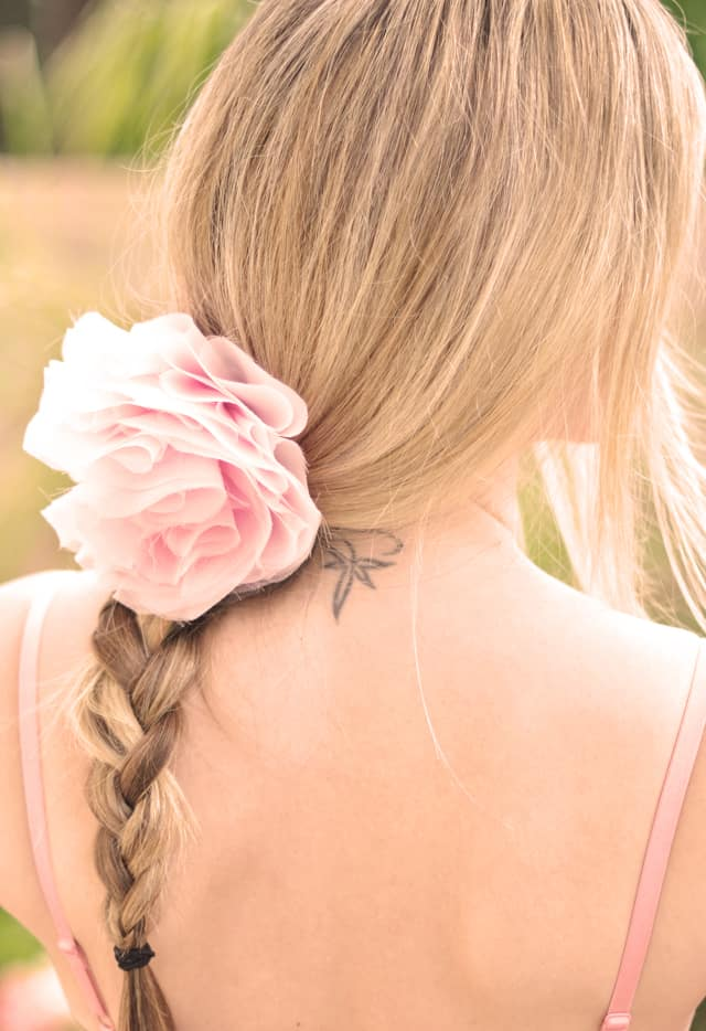 Layered chiffon flower clip
