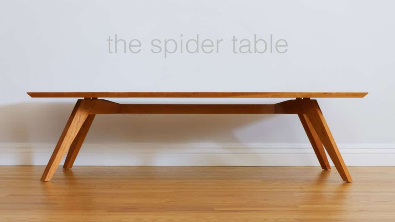 Midcentury spider table