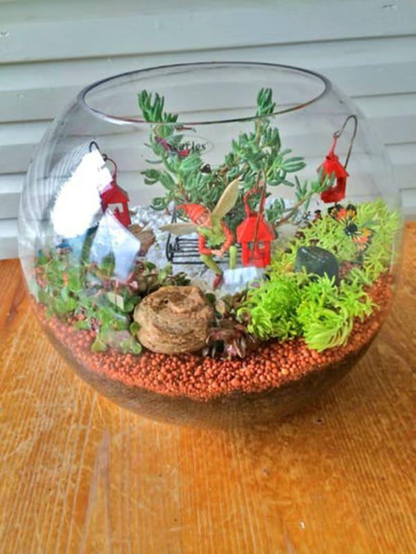Miniature terrarium fairy garden diy 2