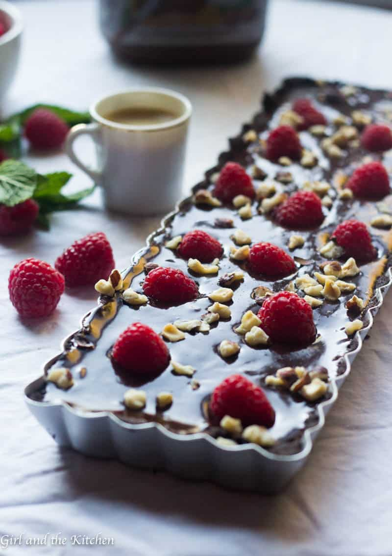 No bake nutella tart
