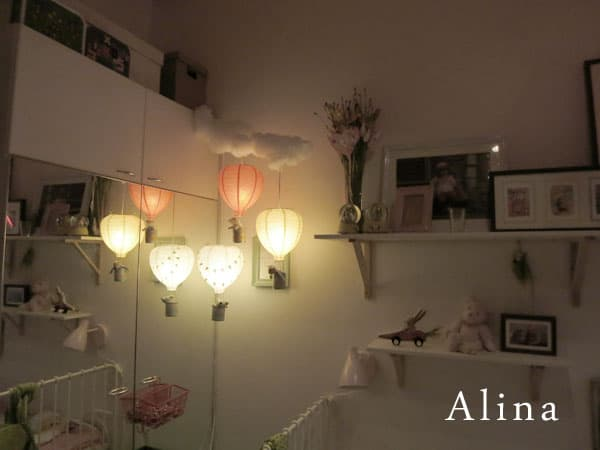 Paper lantern balloon lights
