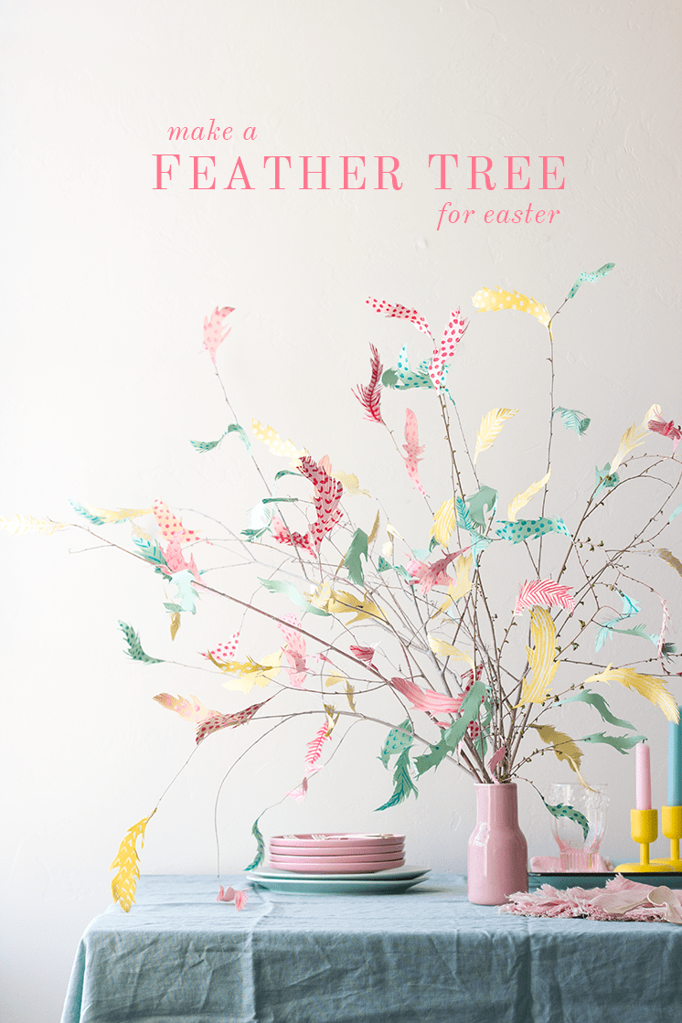 Pastel feather tree