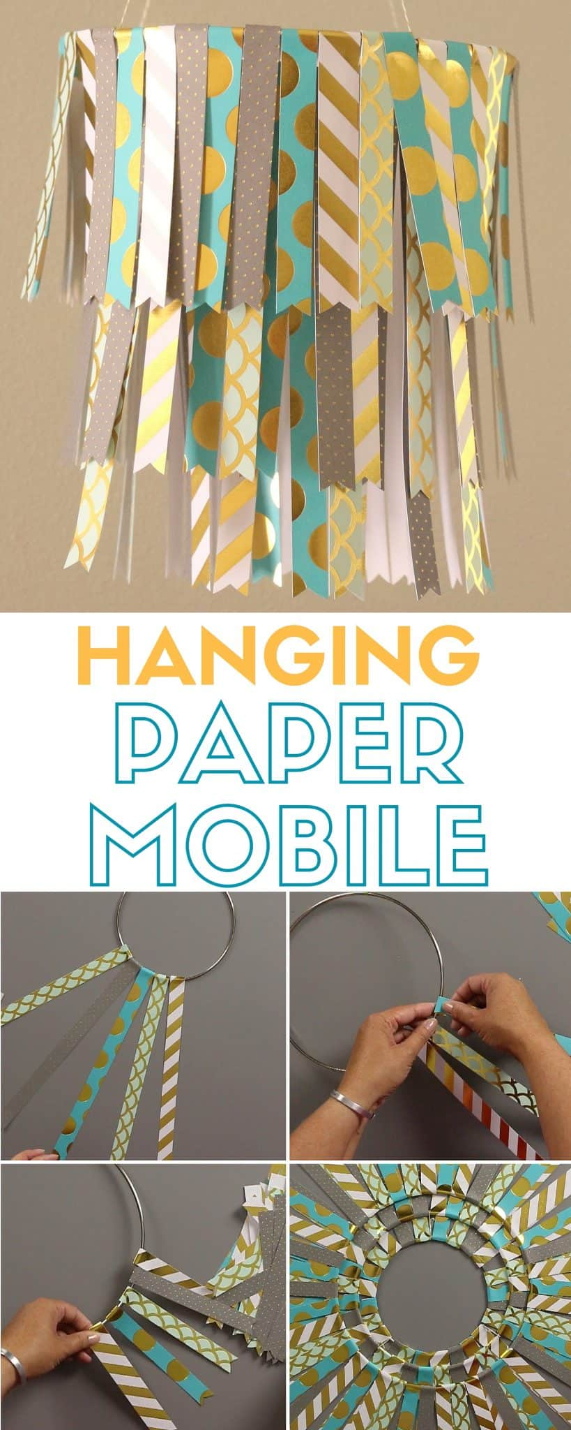 Pretty hanging paper mobile