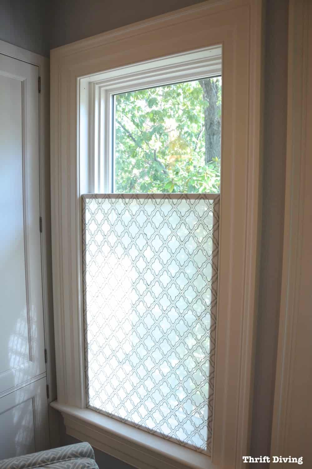 Pretty, sheer fabric diy privacy screen