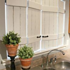 Repurposed indoor vintage shutters