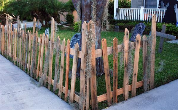 Rustic, eclectic pallet wood fence