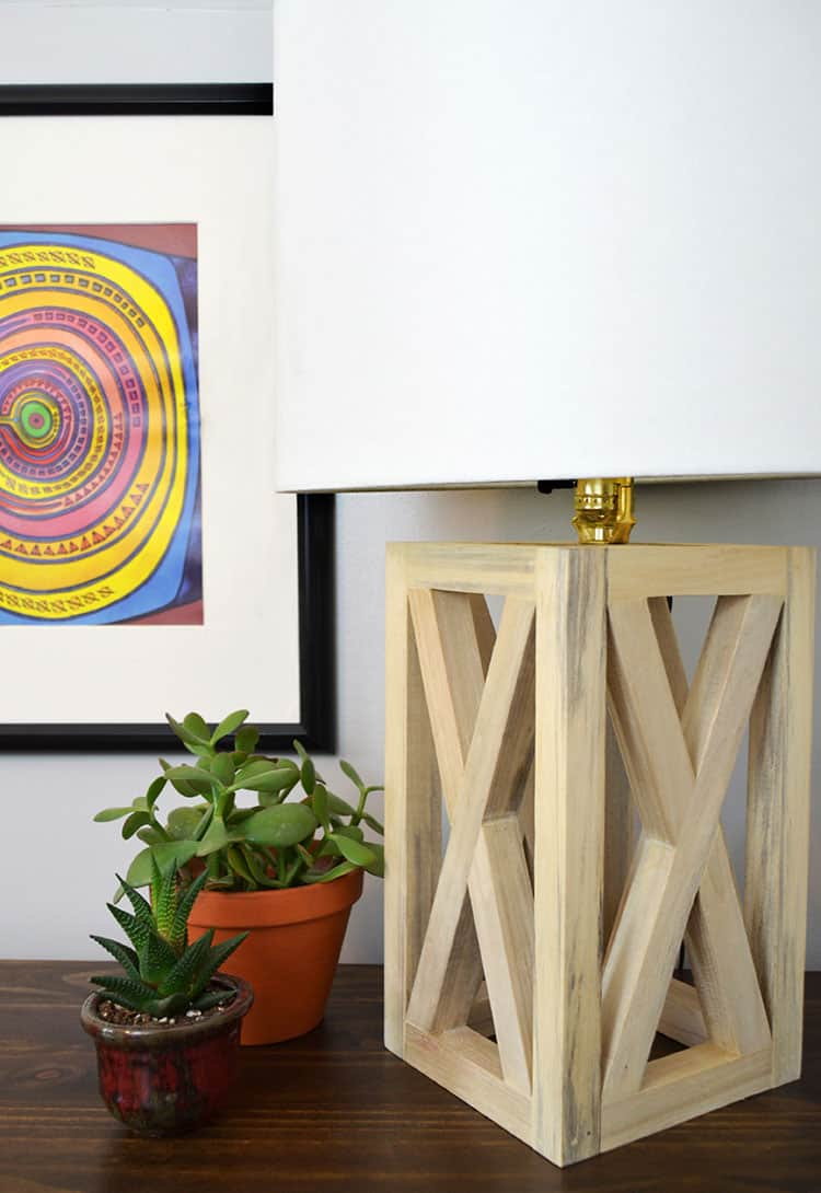 Simple wooden table frame