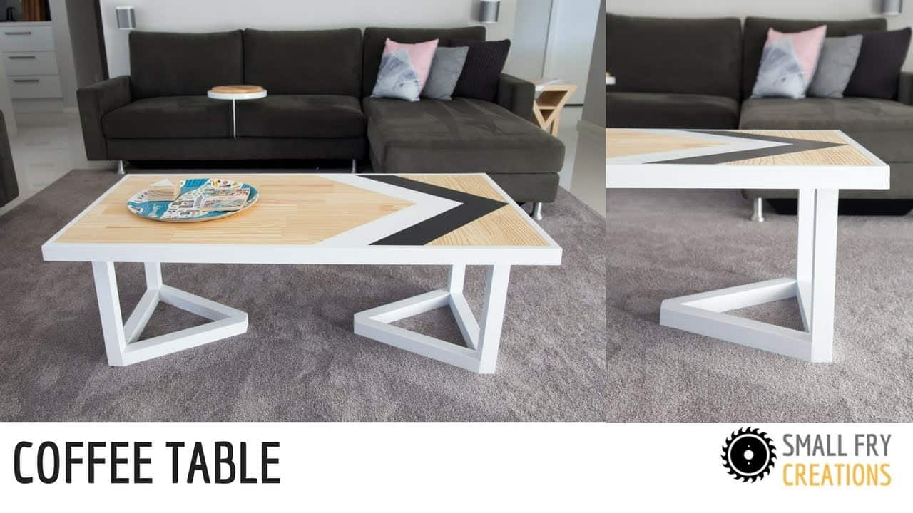 Scandinavian style inspired coffee table