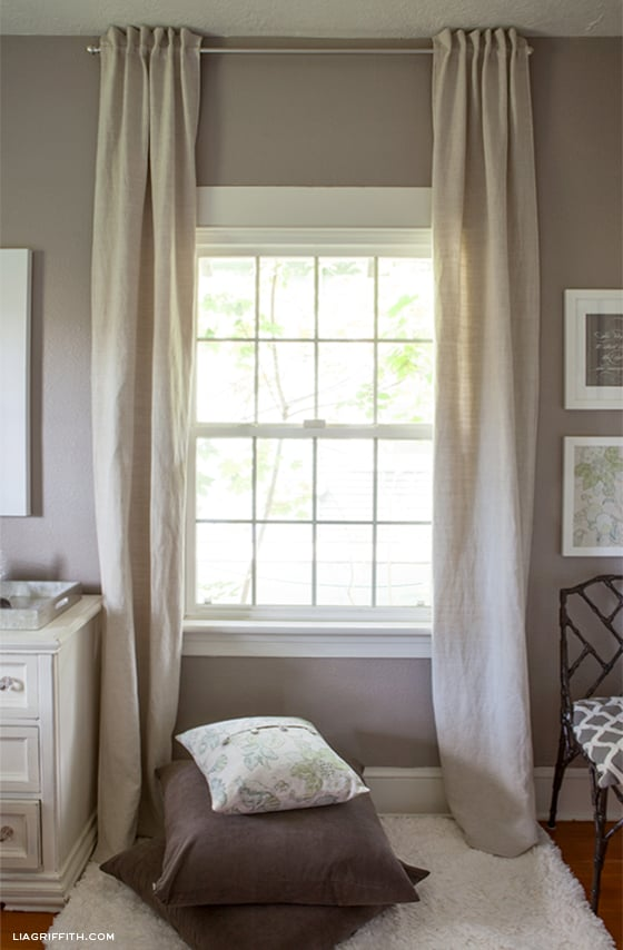 Simple but pretty back tab curtains