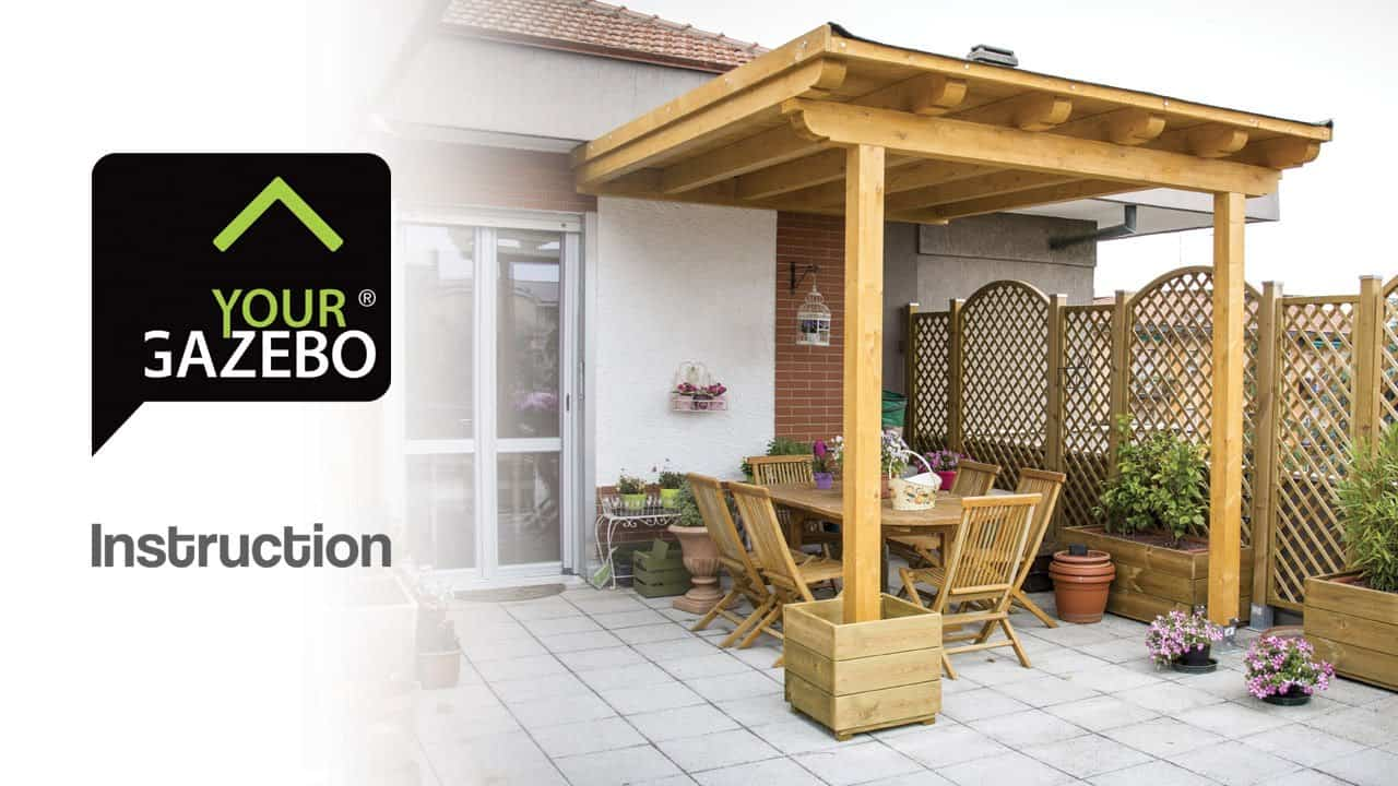 Simple flat roof gazebo