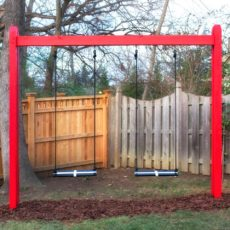 Simple wooden swing set for beginners