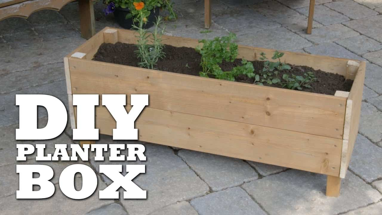 Standing planter boxes for homes with no suitable windows