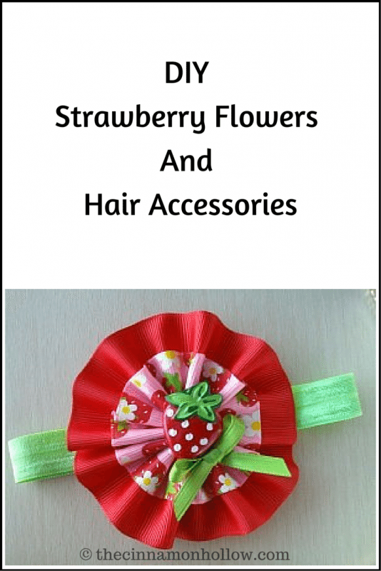 Strawberry and ribbon flower hair accessories