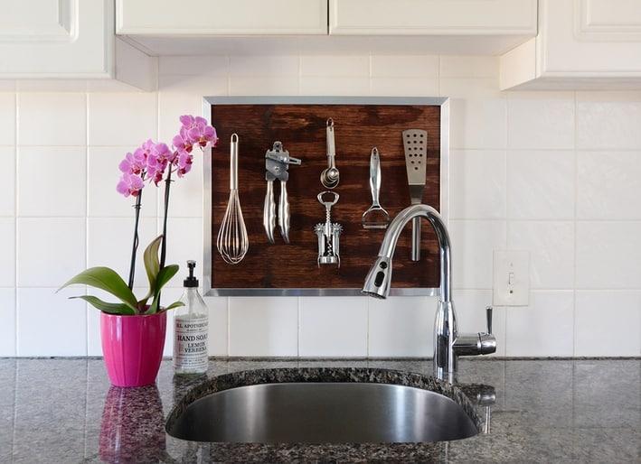 Utensil kitchen wall art diy