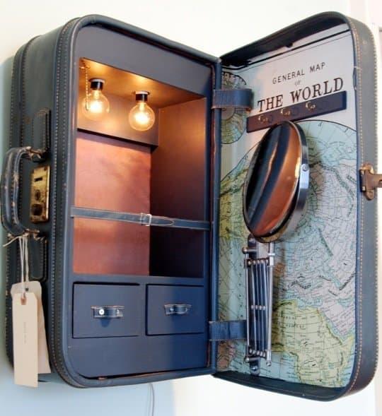 Vintage suitcase cabinets diy