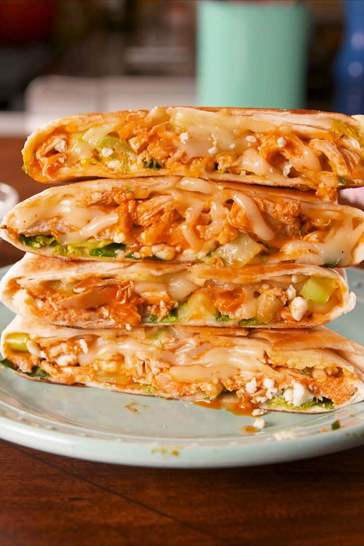 Buffalo chicken crunchwrap recipe