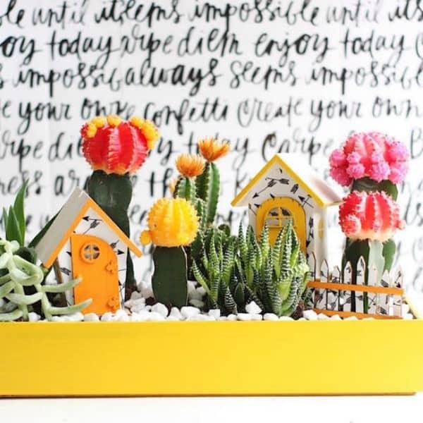 Diy cactus fairy garden 2
