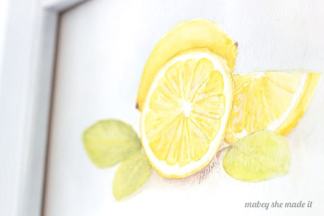 Diy lemon watercolor printable