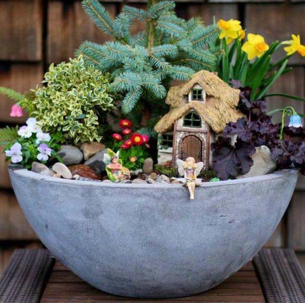 Diy potted fairy garden 2