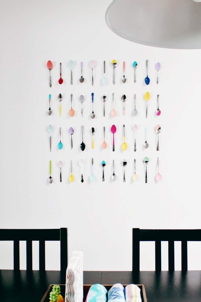 Diy spoon collage