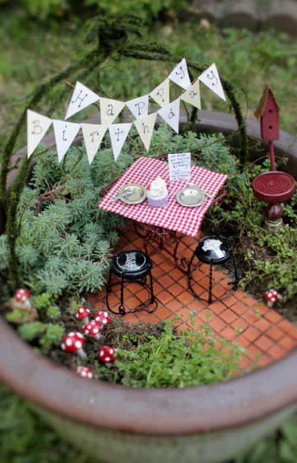 Diy table for two fairy garden 2
