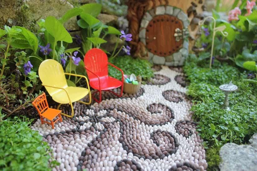 Fairy house fairy garden miniatures paved walkway diy